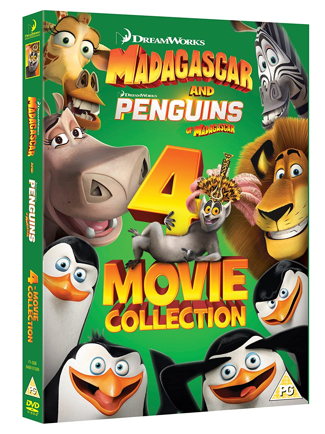 Madagascar And Penguins of Madagascar 4 Movie Collection DVD: Amazon