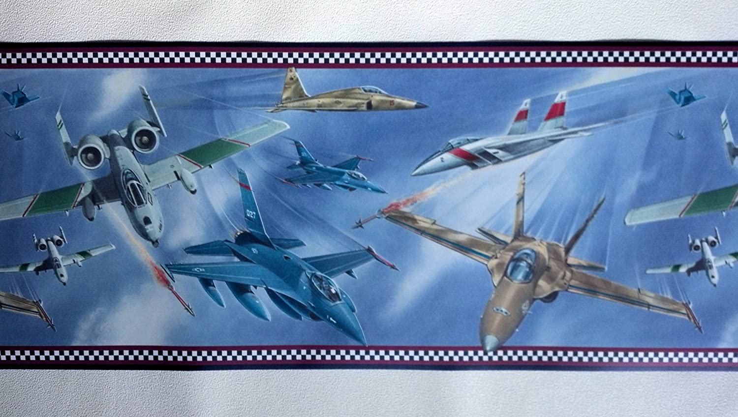 Military Jets Wallpaper Border - Air Force... - - Amazon.com