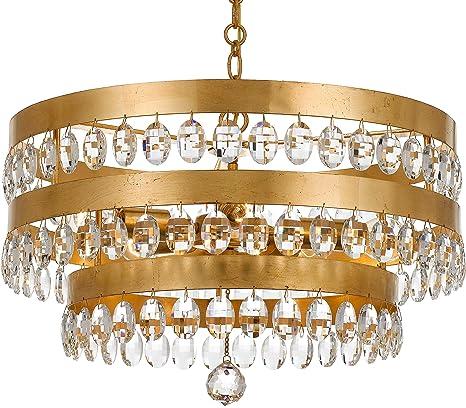 Amazon.com: crystorama iluminación Grupo 6106 Perla 5 luz 21 ...