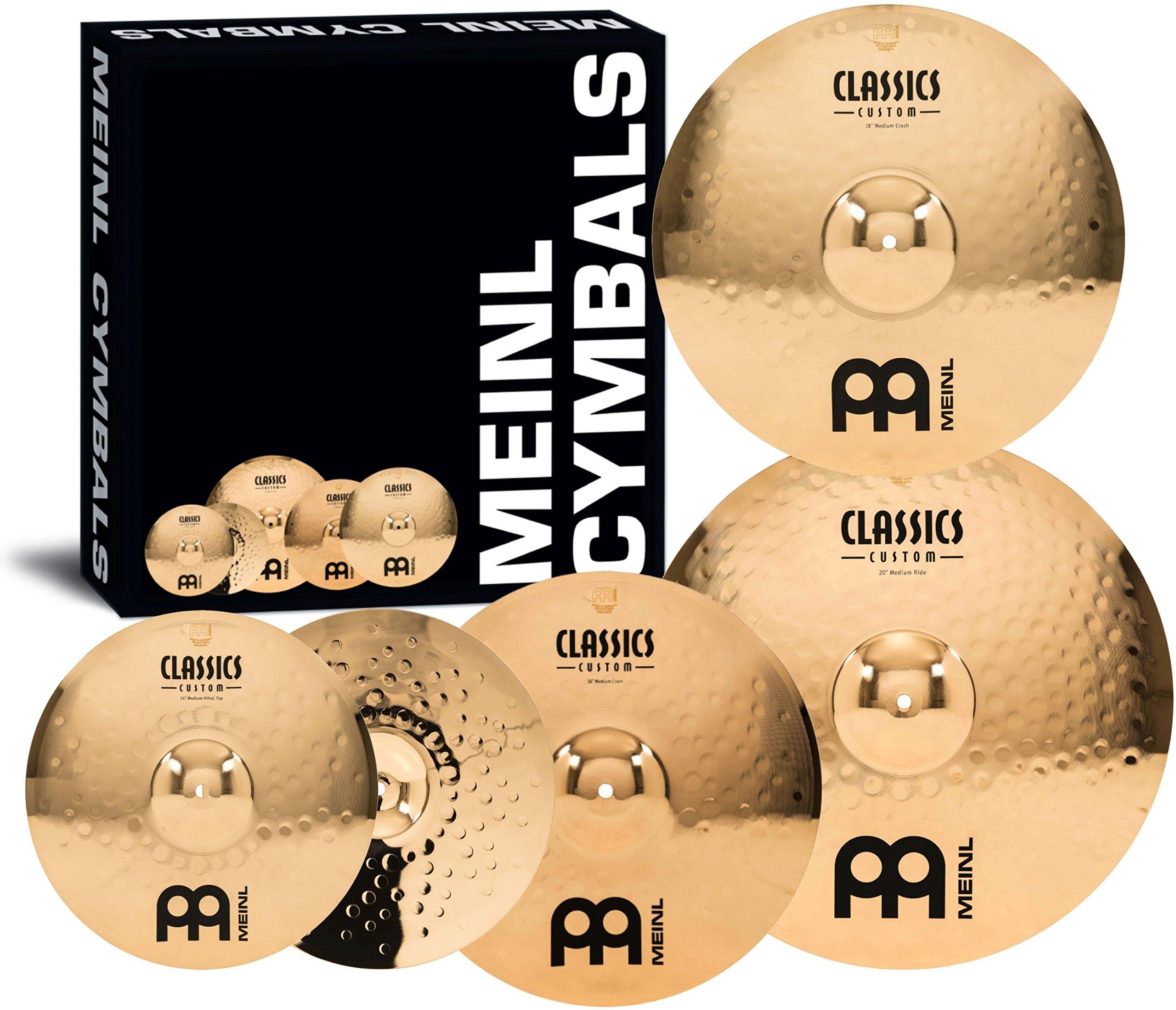 Meinl Cymbals CC-141620+18 Classics Custom Bonus Pack Cymbal Box Set with 18'' Crash