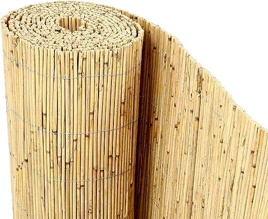 bambus-discount.com Beach - Rollo de caña de bambú para Valla de privacidad (200 x 600 cm): Amazon.es: Jardín