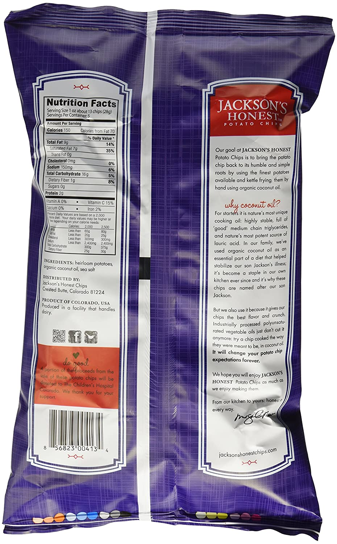 Amazon.com: Purple Heirloom Potato Chips, Cooked in Coconut Oil ...