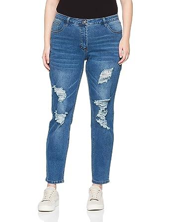 Studio Untold Damen Skinny Jeans Destroyeffekten  Studio Untold  Amazon.de   Bekleidung 5d0ab61c7e