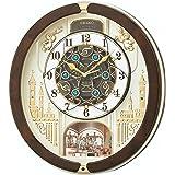 セイコー クロック 掛け時計 電波 アナログ からくり トリプルセレクション メロディ 回転飾り 薄金色 パール RE579B SEIKO