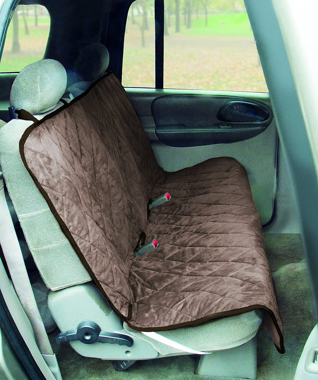 Tan Yes Pets  59-90299TAN Trucks Subs Quilted Bench Style Water-Proof Pet Car Seat Cover for Cars, Tan