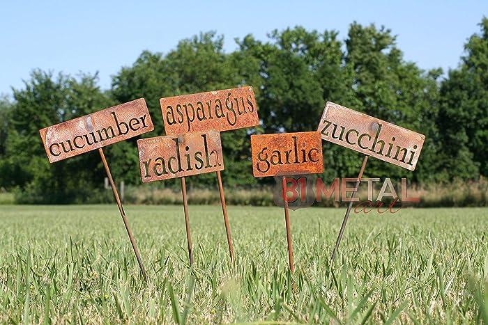 Classic Metal Garden Markers   Set Of 3, 5, 10, 15, 20