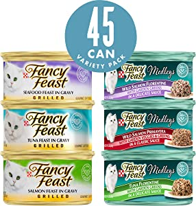 Purina Fancy Feast Variety Pack Wet Cat Food - (45) 3 oz. Cans