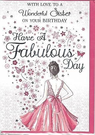 Sister Birthday Card To A Very Special Sister Happy Birthday