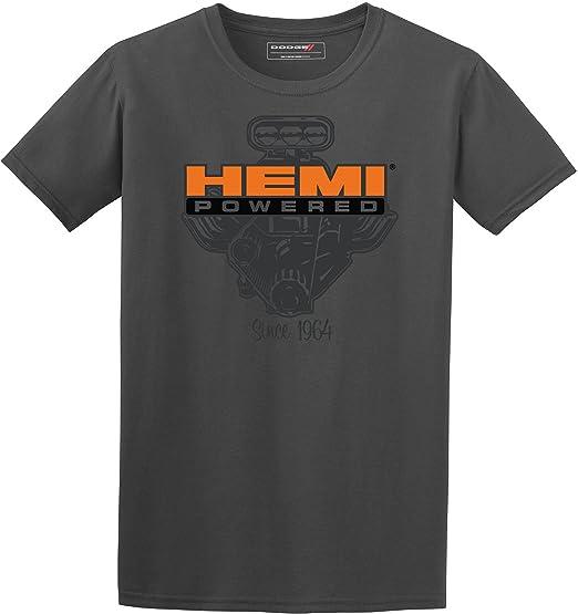 35b2e287d Amazon.com  JH Design Men s Gray Hemi T-Shirt Hemi Powered Short Sleeve  Crew Neck Shirt  Clothing