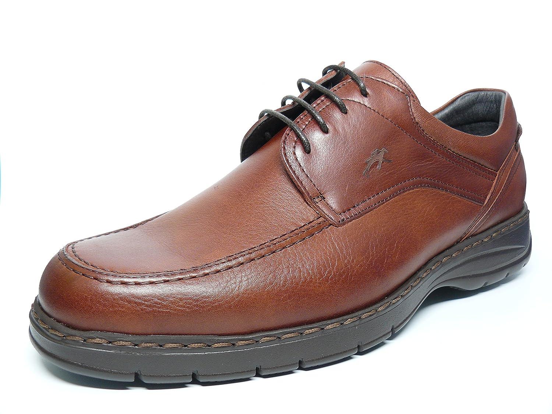 Fluchos Zapatos Hombre con Cordones Piel Color Brandy - 9142 (42, Brandy)