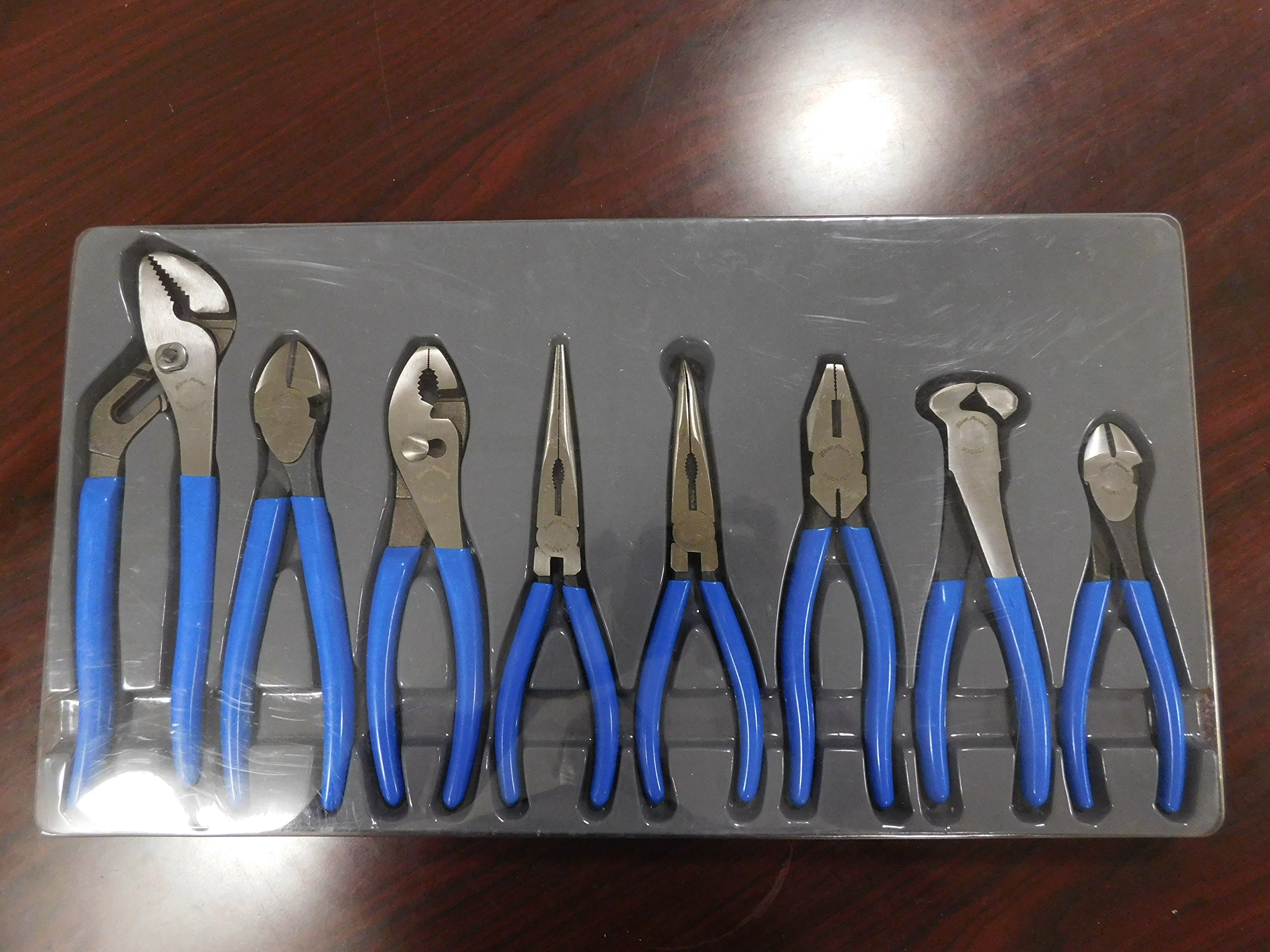 Blue-Point 8 Piece Pliers Set from Slip-Joint to Needle Nose, Part # BDGL800