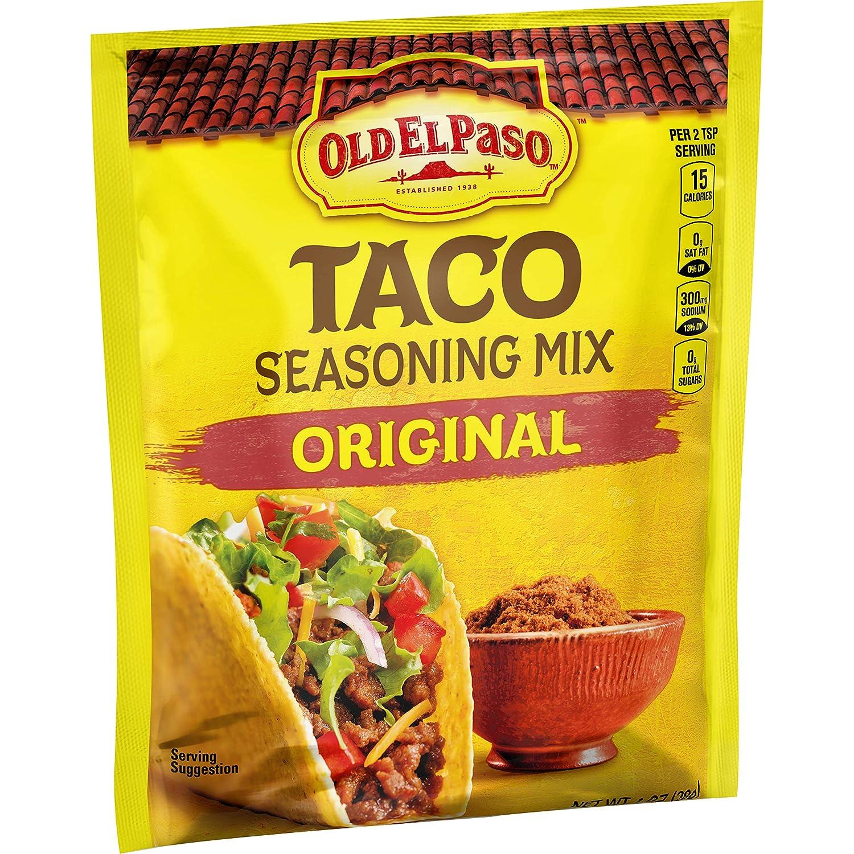 Amazon Com Old El Paso Taco Seasoning Mix Original 1 Oz Grocery Gourmet Food