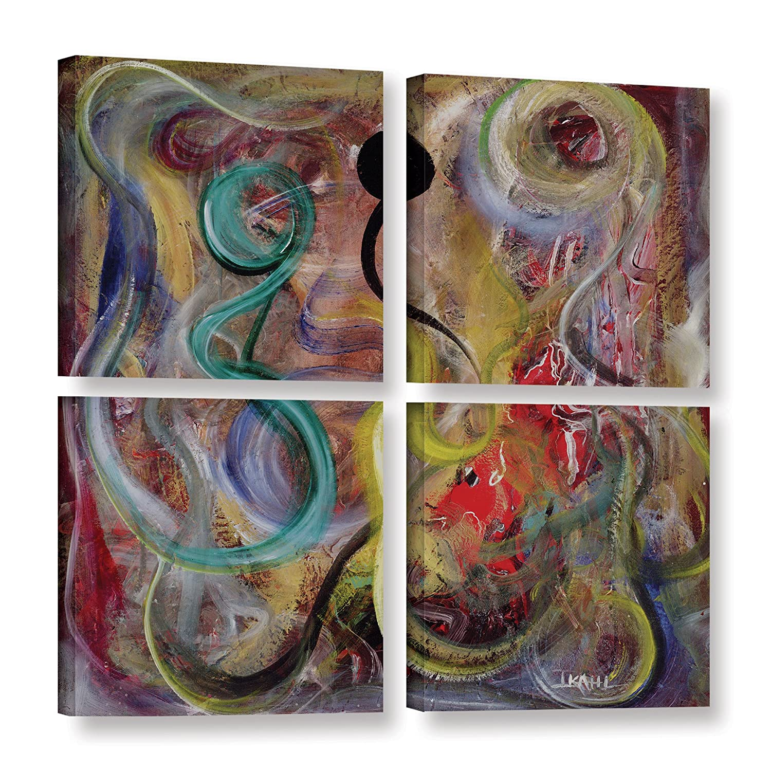 Ikahl Beckford Genesis 4 Piece Gallery Wrapped Canvas Square Set 48X48