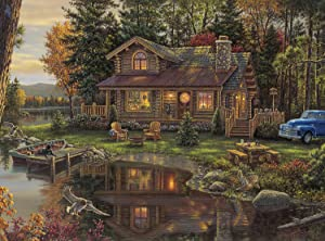 Buffalo Games - Kim Norlien - Peace Like a River - 1000 Piece Jigsaw Puzzle with Hidden Images