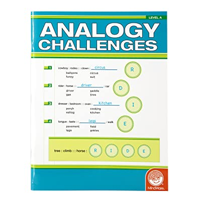 MindWare Analogy Challenges: Level A 50 Analogy Puzzles Great for Helping With Standardized Tests Challenging and Rewarding Grades 3-5: Mindware: Toys & Games