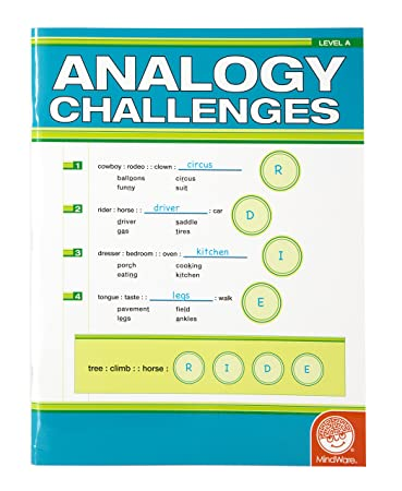 Amazon.com: MindWare Analogy Challenges: Level A 50 Analogy ...