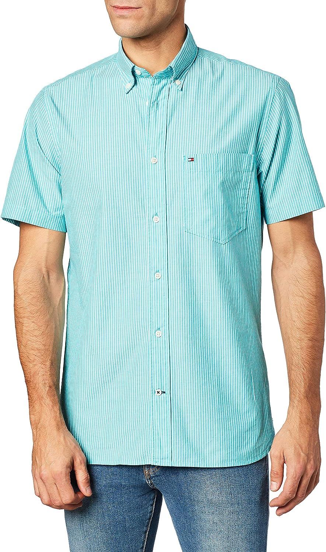 Tommy Hilfiger Herren Fine Stripe Shirt S//S Sweatshirt