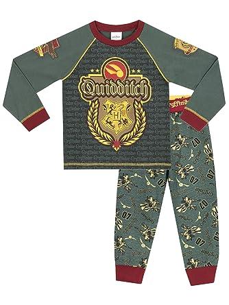 Harry Potter Boys Hogwarts Quidditch Pyjamas  Amazon.co.uk  Clothing 88886b267
