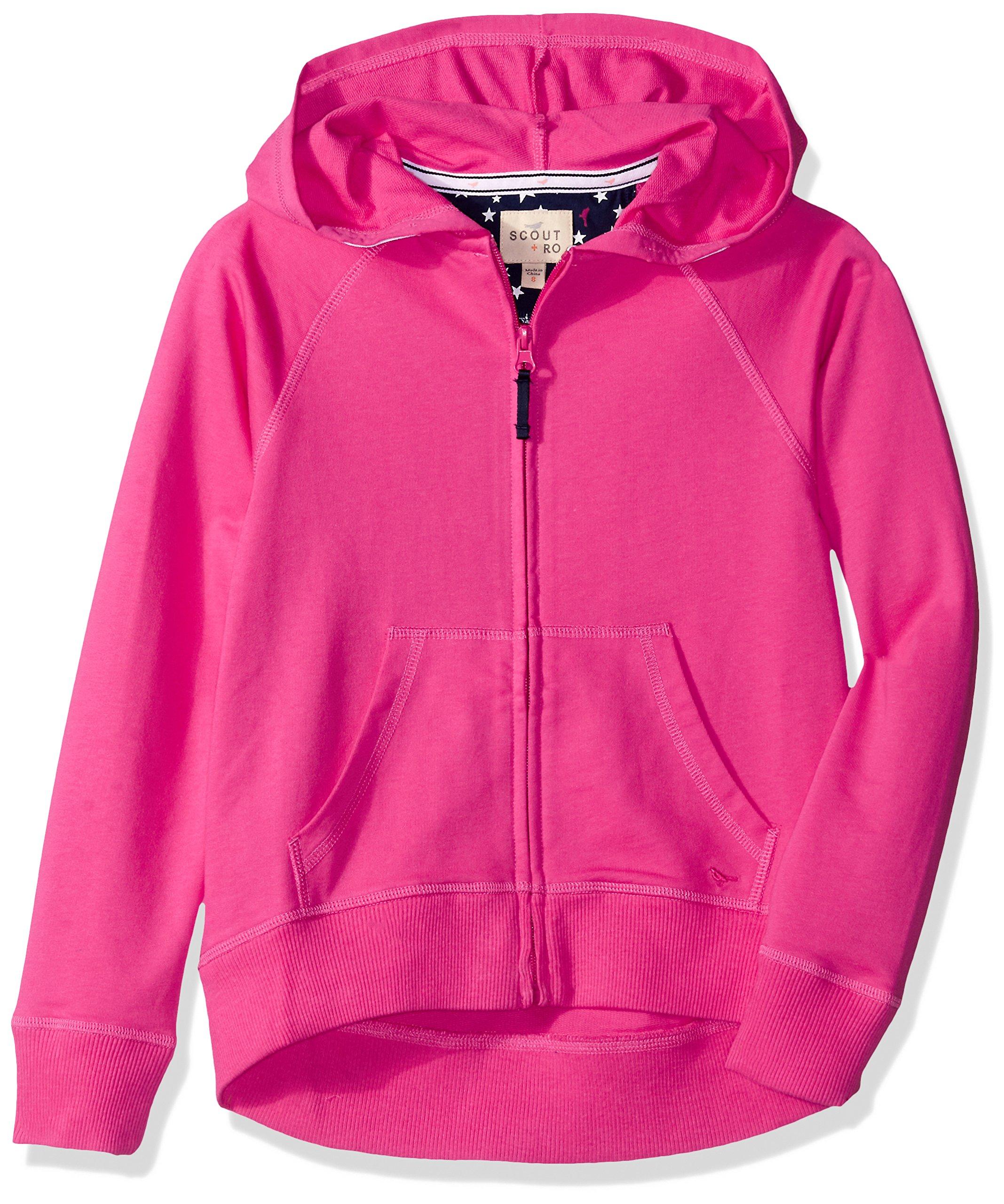 Scout + Ro Big Girls' Active Sweatshirt, Lollipop, 10