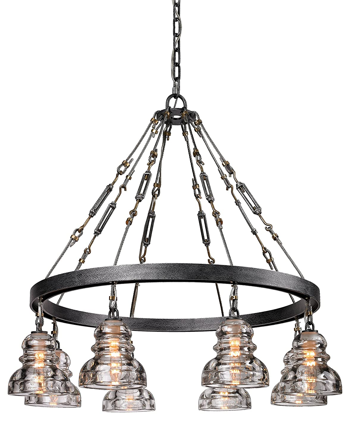 Amazon troy lighting menlo park 255w 5 light pendant old amazon troy lighting menlo park 255w 5 light pendant old silver finish with historic pressed clear glass home improvement amipublicfo Image collections