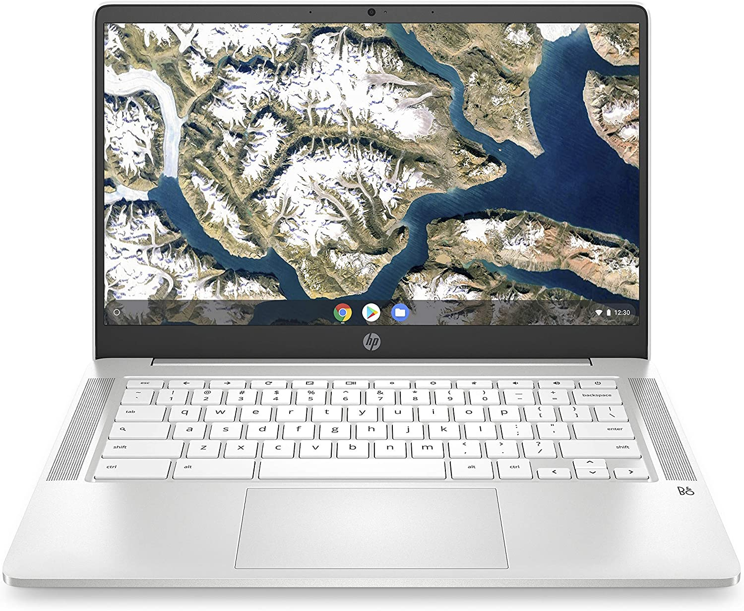 HP Chromebook 14-Inch HD Laptop, Intel Celeron N4000, 4 GB RAM, 32 GB eMMC, Chrome (14a-na0020nr, Ceramic White) (Renewed)