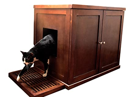 The Refined Feline Refined Litter Box, X Large, Mahogany