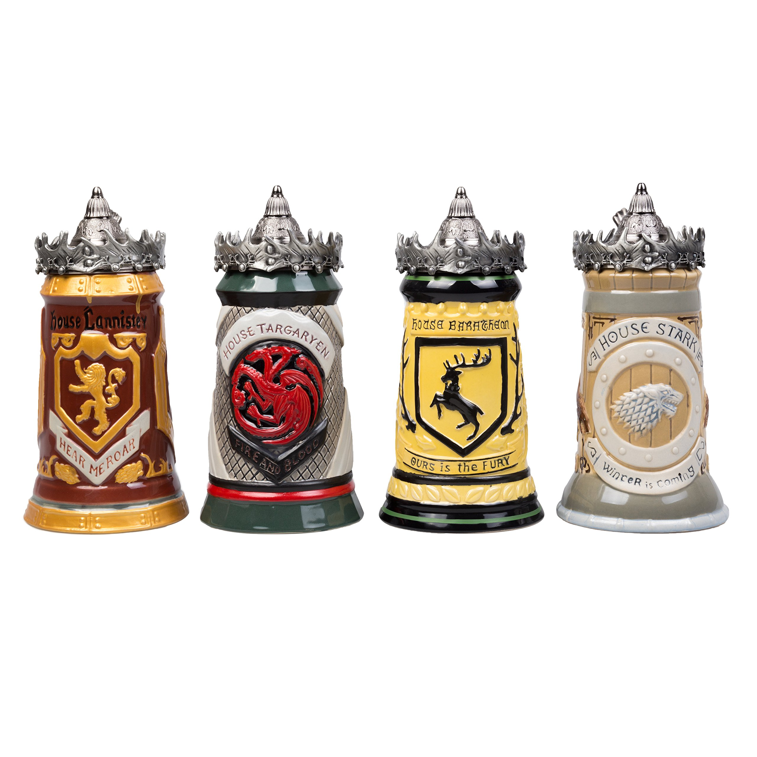 Game of Thrones House Targaryen Stein - 22 Oz Ceramic Base with Pewter Baratheon Crown Top by Game of Thrones (Image #9)