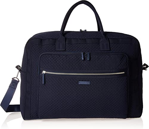 Vera Bradley Women s Microfiber Grand Weekender Travel Bag, Classic Navy