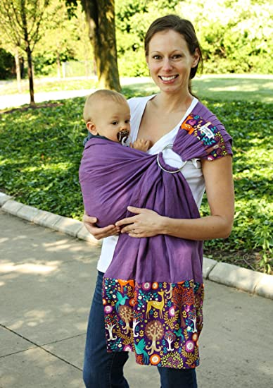 dd5947c2917 Amazon.com   Snuggy Baby Linen Banded Ring Sling Baby Carrier - Fantasy  Forest   Baby