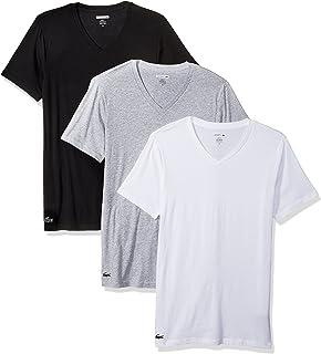 Lacoste Mens 3-Pack Essentials Cotton V-Neck T-Shirt