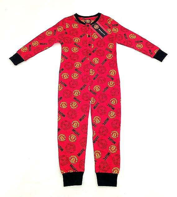 MANCHESTER UNITED F.C, algodón pijama/Pelele para bebé/ALL-IN-ONE - a partir de 3-10 años:.: Amazon.es: Ropa y accesorios