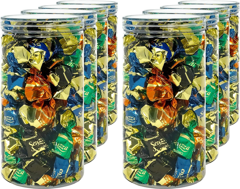 Luxury & Grace Pack 8 Botes de Polietileno Alimentario, 1,5 L (20x10cm). Tarros con Tapa Transparente de Polietileno. Reciclables. 100% Libres de BPA.
