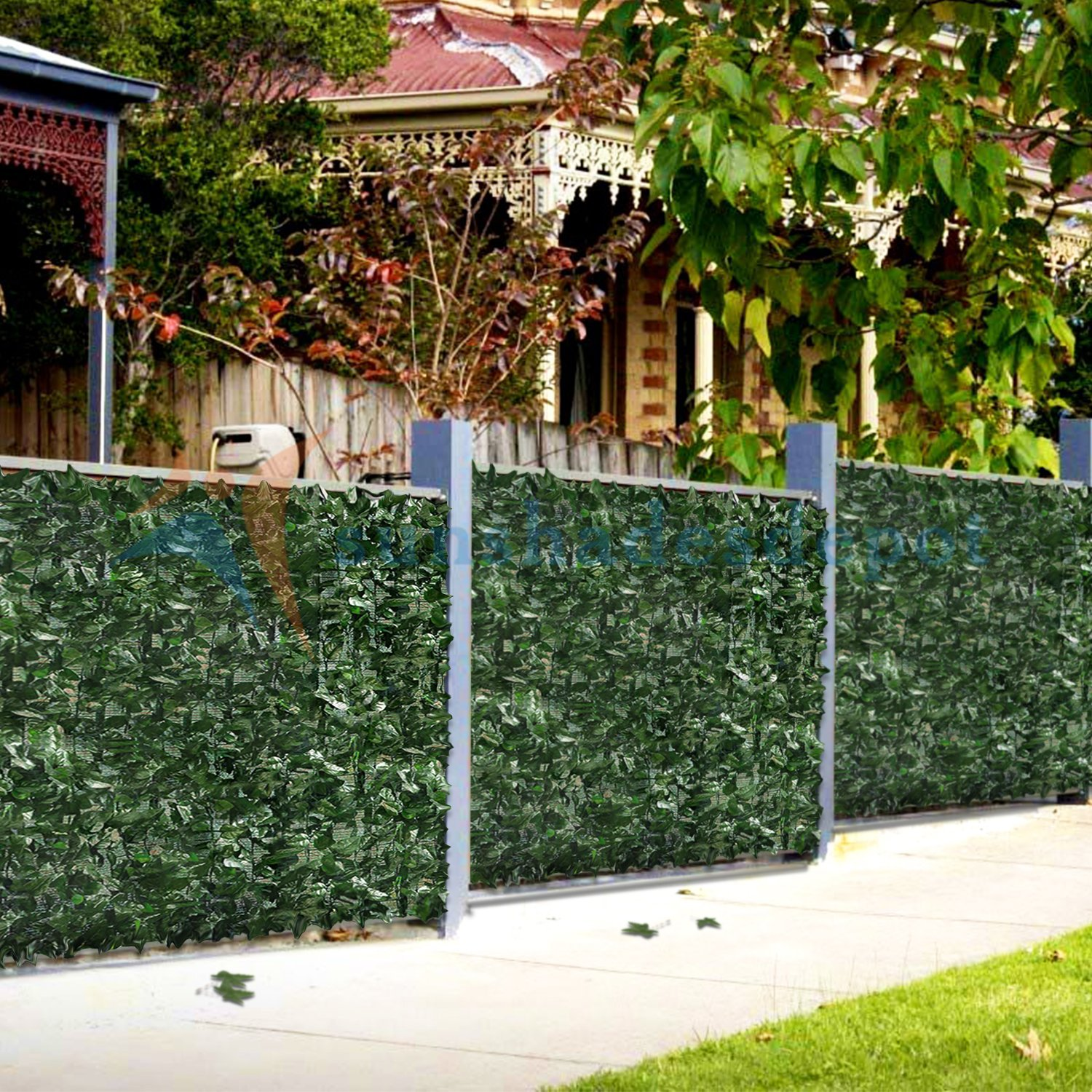 Sunshades Depot 4' x 14' Artificial Faux Ivy Privacy Fence Screen Leaf Vine Decoration Panel with Mesh Back by Sunshades Depot (Image #6)