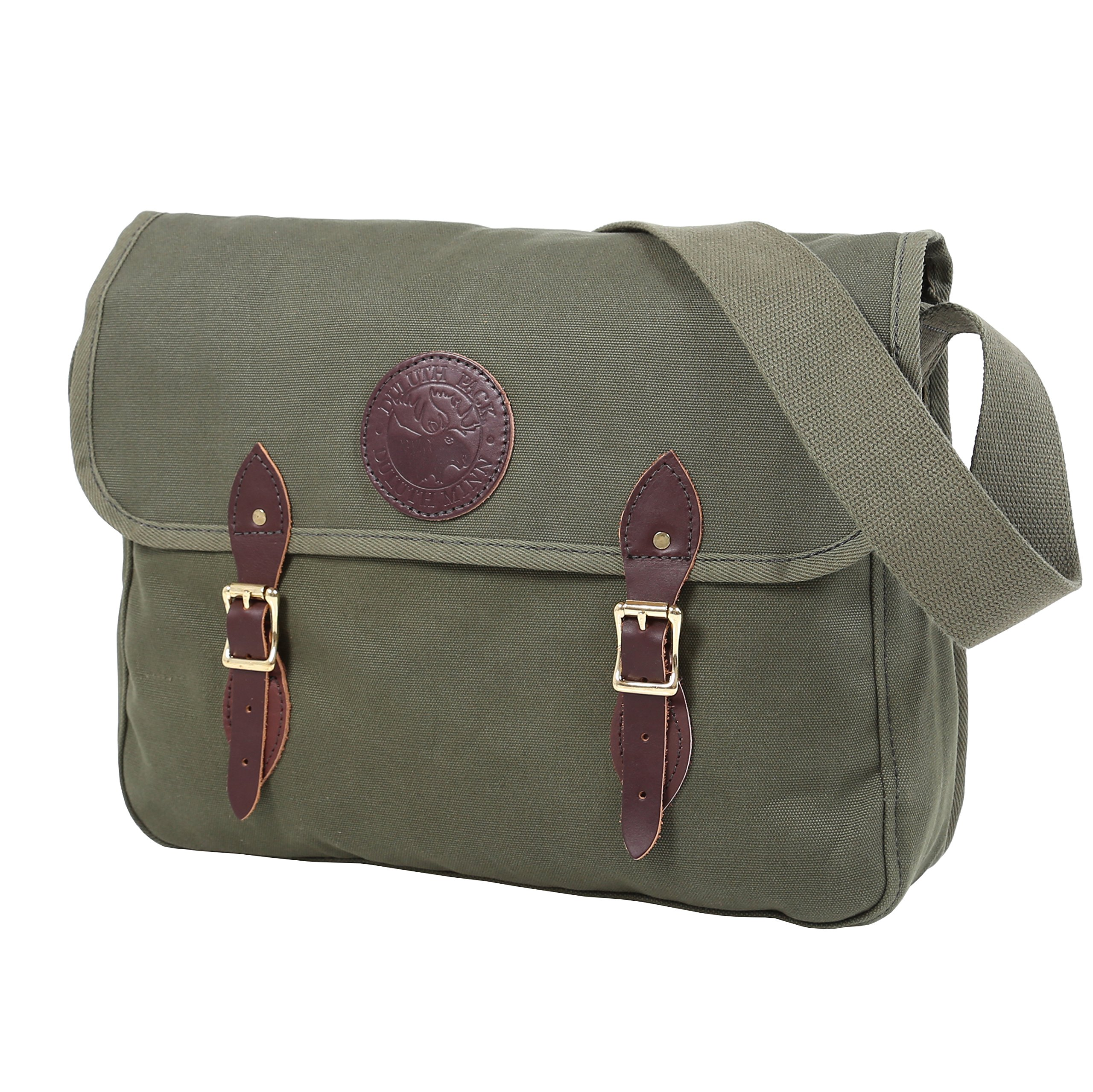 Duluth Pack Standard Book Bag, Olive Drab, 11 x 16 x 4-Inch