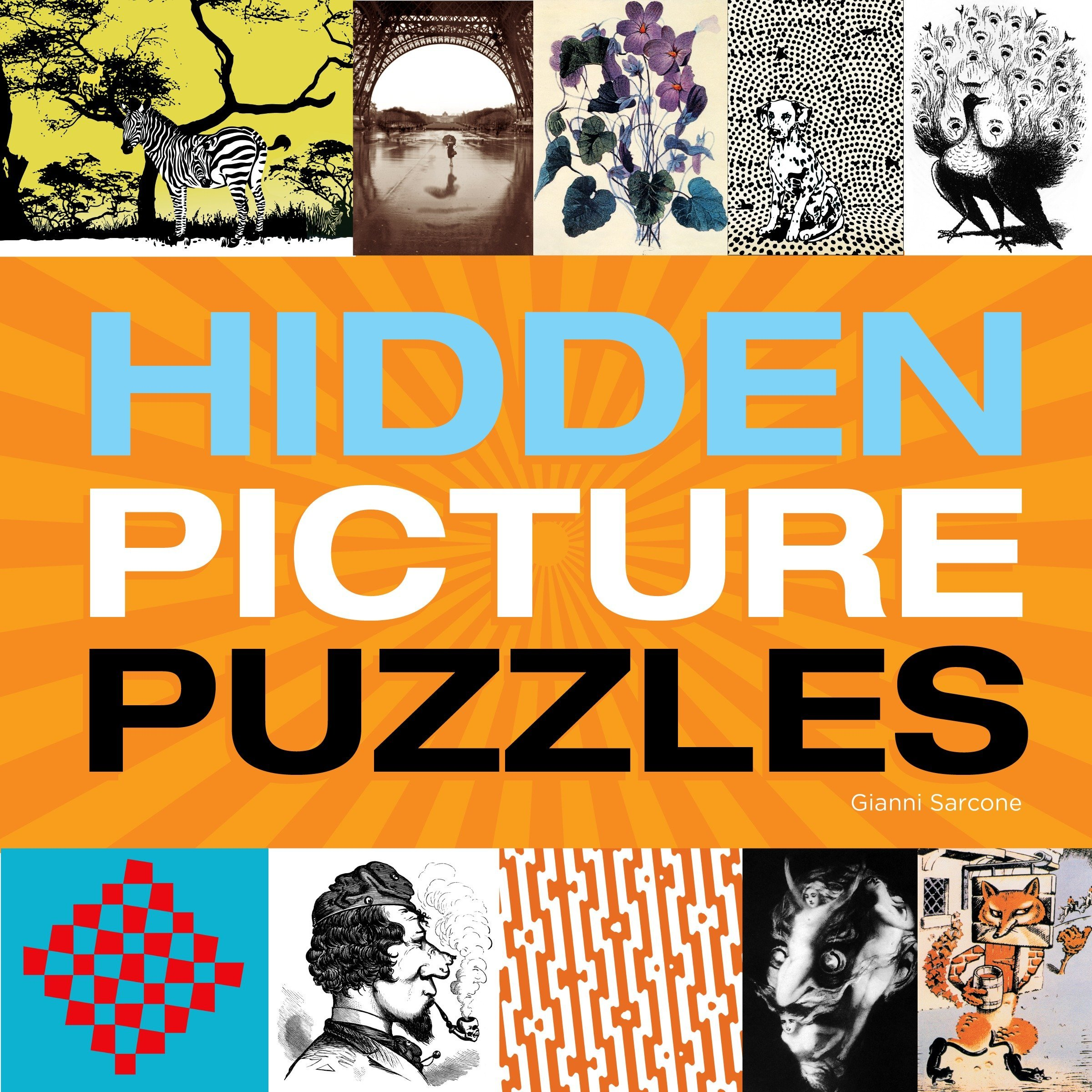 Hidden Picture Puzzles Paperback – September 2, 2014 Gianni Sarcone Imagine 1623540380 Optical Illusions