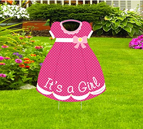 Amazon Com Cute News Baby Girl Lawn Announcement Welcome Home