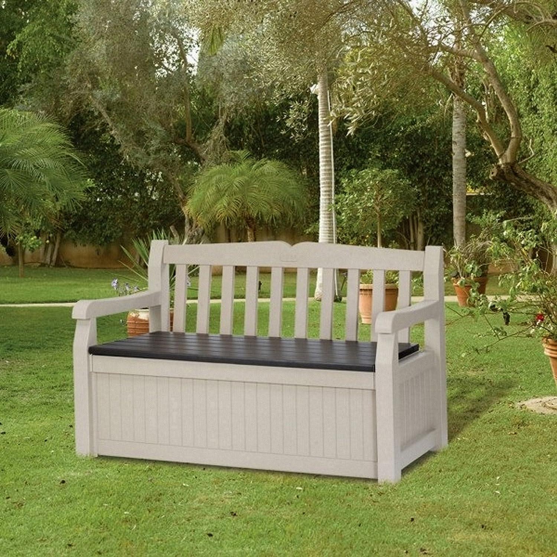 aufbewahrungsbox eden beige kunststoff sitzbank gartenbank g nstig bestellen. Black Bedroom Furniture Sets. Home Design Ideas