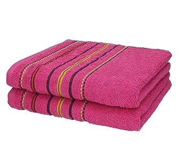 BETZ Juego de 2 piezas de toallas 50x100 cm toalla para el deporte PORTUGAL de color rosa: Amazon.es: Hogar