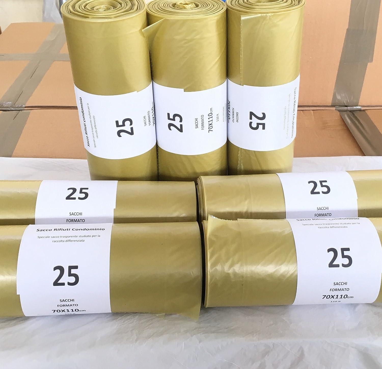 350 Sacchetti Differenziata Buste Immondizia 70x110 TRASPARENTI Spazzatura