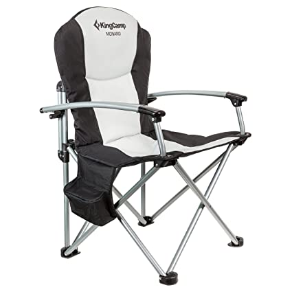 KingCamp Heavy Duty Hard Arm Padded Steel Folding Chair/Directoru0027s Chair  With Cooler Bag (