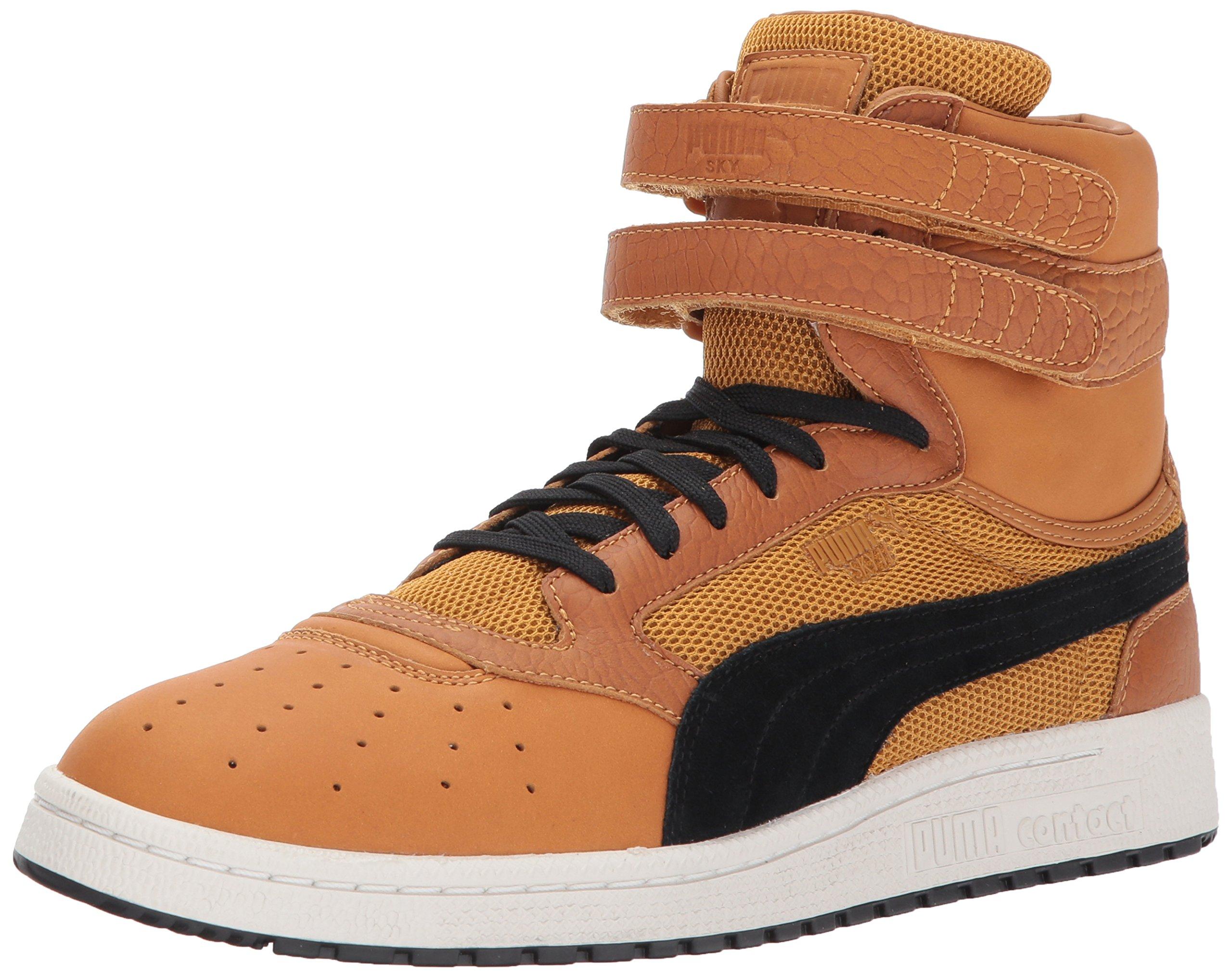 989c958238 PUMA Men's Sky II Hi Color Blocked Lthr Sneaker, Inca Gold Black, 11 M US