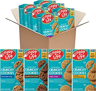 product image for Enjoy Life Crunchy Cookies Variety Pack, Nut Free Cookies, Soy Free, Dairy Free, Gluten Free, Non GMO Cookies, 6 Boxes