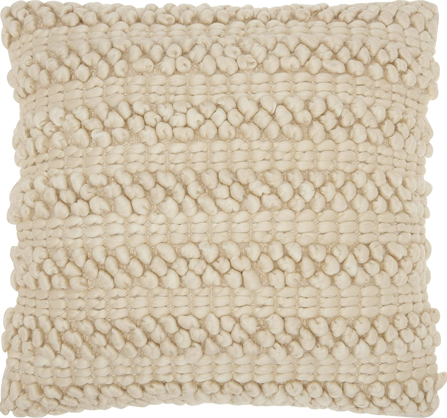 "Mina Victory by Nourison DC827 Beige Decorative Pillow, 20"" x 20"""