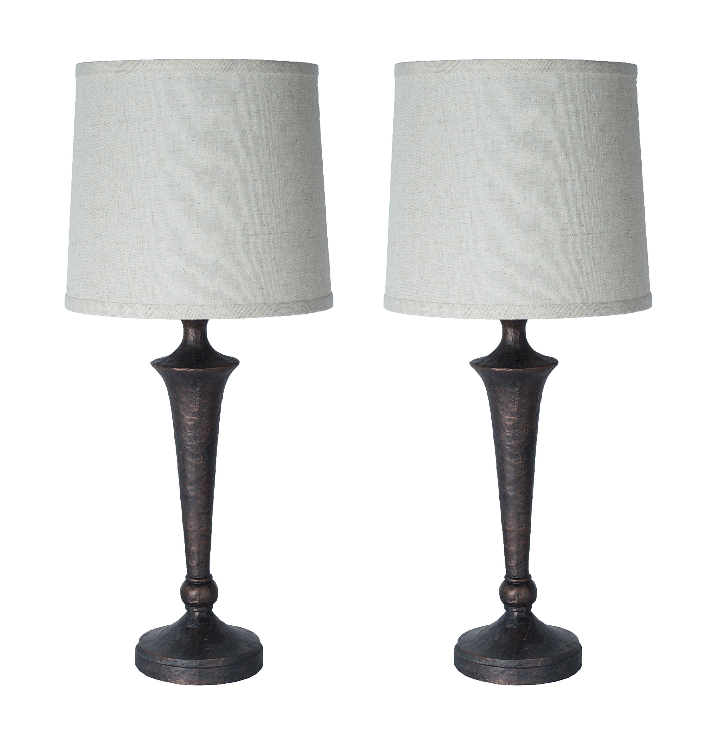 Urbanest Set of 2 Jacob Table Lamps, Paris Bronze