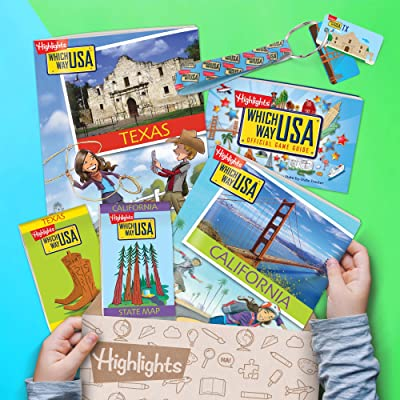 Which Way USA Subscription Box - Highlights Geography Books for Kids with  USA Puzzles