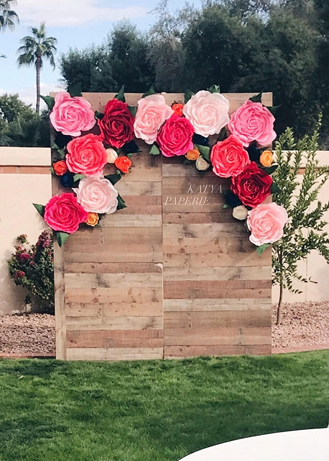 Amazon Com Giant Paper Flower Wall Display Garden Party Decor
