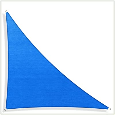 ColourTree Customized Size Order to Make Sun Shade Sail Canopy Mesh Fabric UV Block Triangle TAPRT20 Blue - Commercial Standard Heavy Duty - 190 GSM - 3 Years Warranty Custom Size : Garden & Outdoor