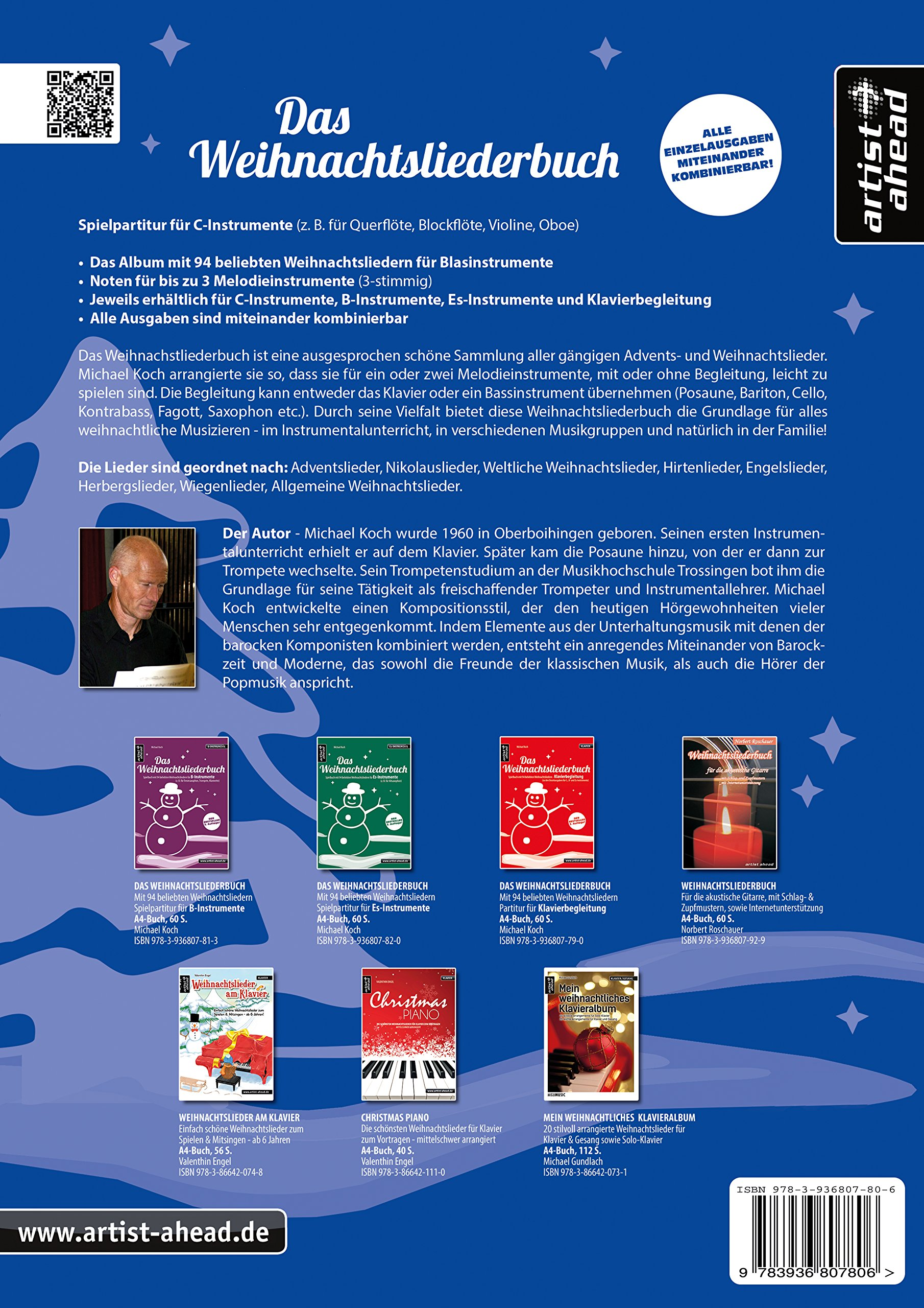 Das Weihnachtsliederbuch: Spielbuch mit 94 beliebten ...