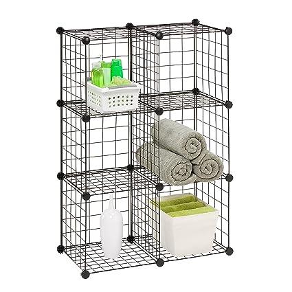 Etonnant Honey Can Do SHF 02113 Modular Mesh Storage Cube, 6 Pack