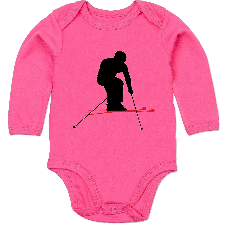 Sport Baby - Skifahren Urlaub - Baby Strampler aus organischer Baumwolle für Mädchen und Jungen